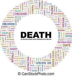 DEATH Background concept wordcloud illustration Print...