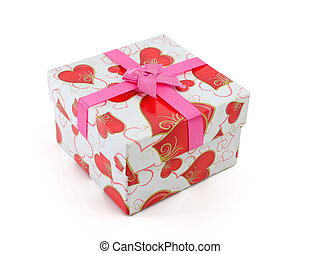 Gift Box with Pink Ribbon Bow