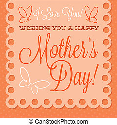 Papel picado Mothers Day card in vector format