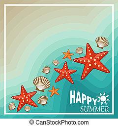 Summer beach set. Vector illustration