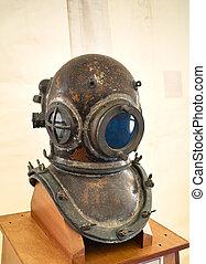Obsolete diving helmet