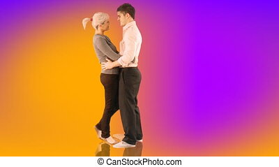 Young Couple Embracing - Romantic Young Couple embracing...