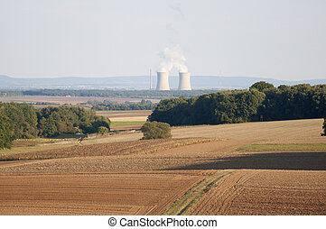 Nuclear Power Plant in Germany - Two Units of a Nuclear...