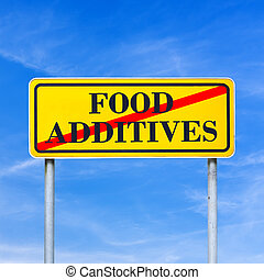 Food additives prohibited - conceptual image with the words...