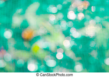 Bokeh green light