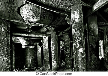 Techological chamber in cement factory - Abandoned spooky...