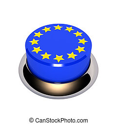europe button - fine 3d image of plastic europe button...