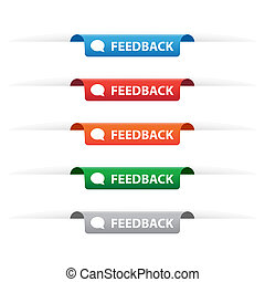 Feedback paper tag labels - Set of feedback paper tag labels...
