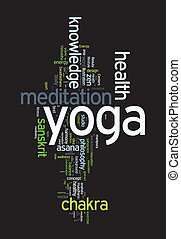 YOGA Word cloud concept illustration - YOGA Word cloud...