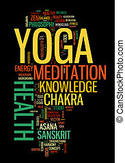 YOGA. Word cloud concept illustration. - YOGA. Word cloud...