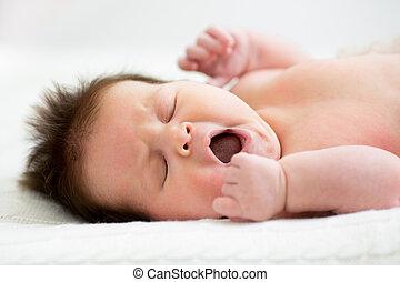 nouveau né, bébé, dormir
