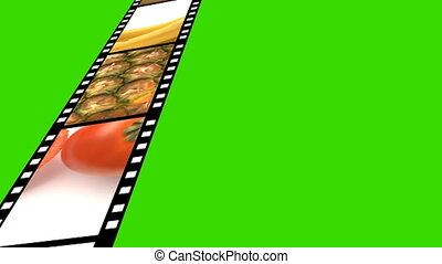 fruit film strip - Fruit animation film