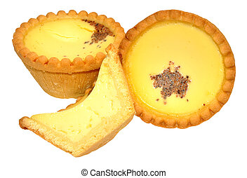 Egg Custard Tarts - Traditional shortcrust pastry egg...