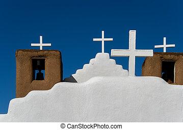 San Geronimo Chapel in Taos Pueblo, USA