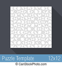Puzzle Template 12x12 - Square jigsaw puzzle template 12x12...