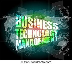 empresa / negocio, tecnología, dirección,...