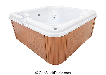 jacuzzi under the white background
