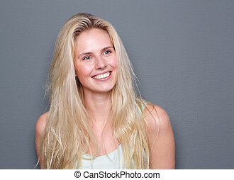 Portrait of a carefree young blond woman