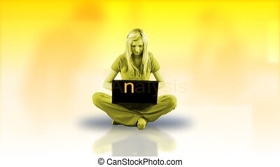 Attractive woman using her laptop