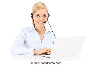 Happy teleworker - A picture of a happy teleworker working...