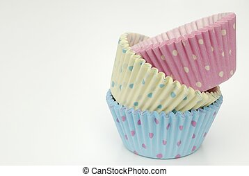 cupcake cases - various cupcake cases on white background