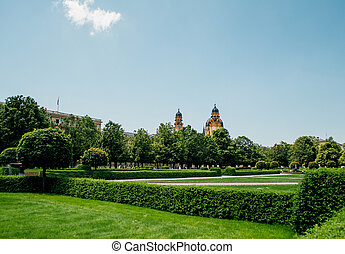 Hofgarten park in Munich, Germany - Hofgarten - Court Garden...
