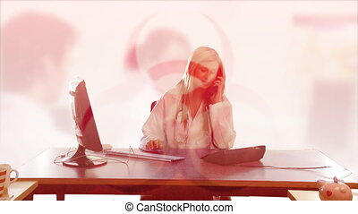 Businesswoman working in office