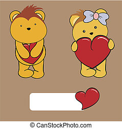 porcupine baby cartoon love set in vector format very easy...