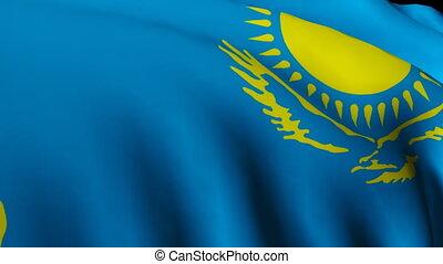 Kazakhstan flag - Kazakgstan flag moving