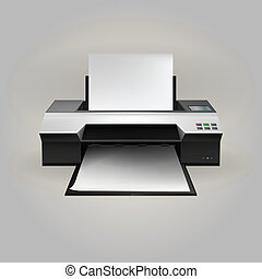 Illustration of inkjet printer