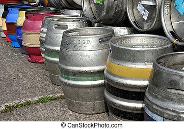 Aluminium Beer Barrels - Empty aluminium beer barrels...