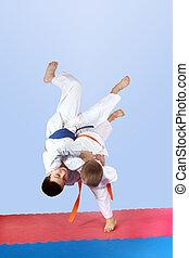 atletas, judo, lances