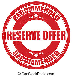 Reserve offer - Stamp with text reserve offer inside,vector...
