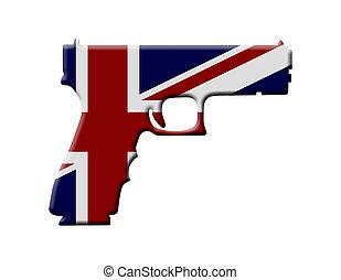 Handgun weapon laws in England, A Handgun in the British...
