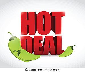 hot deal sign illustration design