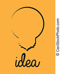 Idea design over yellow background ,vector illustration