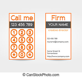 Unusual double sided business card