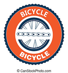 Bike design over background, vector illustration