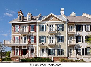 Condominium - Front Facade of a brightly colored Condominium