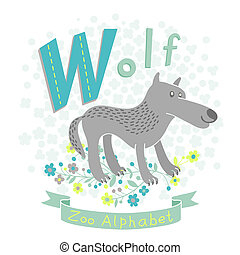 Letter W - Wolf