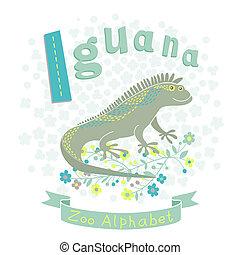 Letter I - Iguana