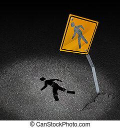 tráfico, accidente, lesión