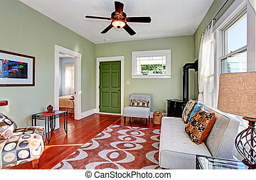 Living room interior - Old fashion living room with antique...