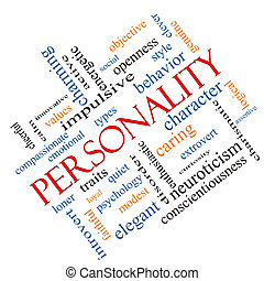 Personality Word Cloud Concept Angled - Personality Word...