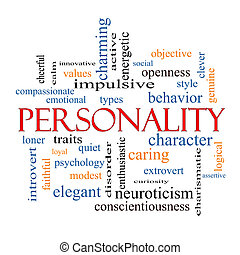 Personality Word Cloud Concept with great terms such as...