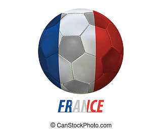 Football - Soccer ball with france flag isolated in white