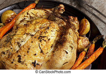 Roasted Chicken Dinner - Roasted chicken dinner with...