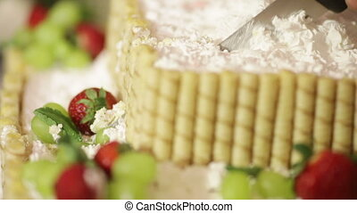 Cutting fruit cake - Original cut fruit cake at wedding