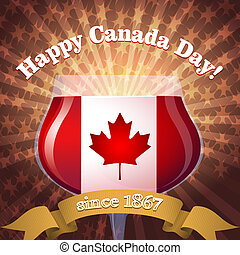 Canada Day goblet - Illustration of goblet in Canadian...