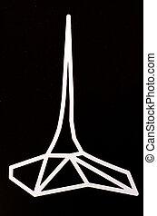 Landmark of Melbourn sign and symbol - White landmark of...